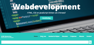 Onze eigen website